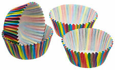 60 Muffin-Förmchen fettdichtes Papier Backformen 7cm bunt gestreift (KC010)
