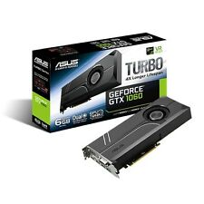 Asus GeForce GTX 1060 TURBO Graphics Card, 6GB GDDR5, DVI-D, HDMI 2.0, DP 1.4