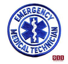 Emergency Medical Technician Round patch Blue & White Round