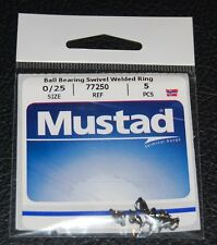 Mustad 77250-0/25 Ball Bearing Swivel with Welded Rings 25lb Test Pack of 5
