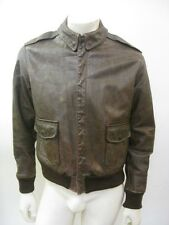 Vintage WWII A-2 Leather Flight Jacket Perry Sportswear Size 42