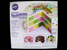 "NEW Wilton All-Occasion CHECKERBOARD CAKE PAN Set 2105-9961 3 Round 9"" Nonstick"
