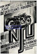 NSU Motorrad 500 ccm Reklame von 1928 Werbung +