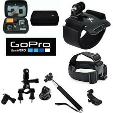 HARD CASE FOR GOPRO HERO4 + MOTORCYCLE MOUNT + ALL U NEED ACCESORIES KIT FAST SH