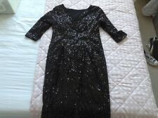 Simply Be black sequinned knee length dress size 16 NEW