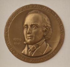Medallic Art Hall of Fame Great Americans NYU Medal Justice Joseph Story Bronze