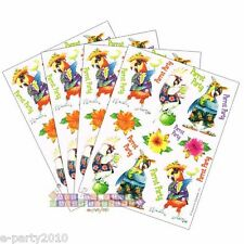 CARIBBEAN PARROT STICKERS (4 sheets) ~ Hawaiian Luau Birthday Party Supplies