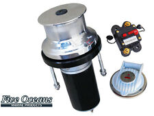 316 Stainless Steel Marine Vertical Capstan - 12V 900W - Rope up to 7/8""