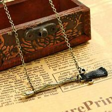 Best Broom Halloween Witch Charm Pendant Bracelets Necklaces Jewelry Fitting LN