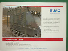 10/2008 PUB RUAG AEROSPACE LAND SYSTEMS SIDE PROTECTION LASSO BLINDE ORIGINAL AD