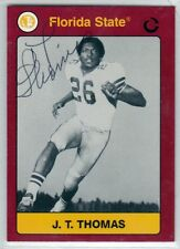 Pittsburgh Steelers JT THOMAS autograph signed FLORIDA STATE card 4x SB Champ