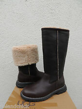 UGG BROOKS TALL BROWN LEATHER/ FULLY SHEARLING LINED WINTER BOOTS, US 9/ EUR 40