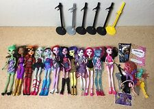 Lot Of 12 Monster High Dolls - Doll Clothes & Accessories