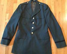 VINTAGE US ARMY Military Green Uniform Jacket Blazer Coat SIZE 42 Long Garrison