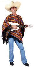 Para Adultos Mexicana Poncho Fancy Dress Costume Mexico Mariachi vaquero occidental Outfit