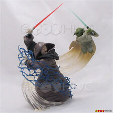 Star Wars Unleashed Yoda vs Emperor Palpatine - loose displayed action figure