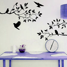 Black Tree Branch Birds Handcraft Wall Sticker Decal Mural For Home Decoration