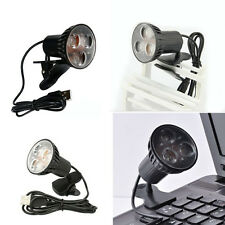 USB 3-LED Clip-on tavoli-scrivania lettura lampada lampadina per Laptop PC