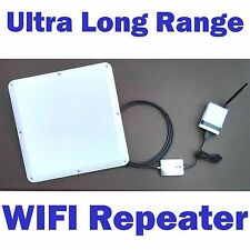 Long Range High Power Outdoor 2.4 GHz 802.11N WIFI Network Repeater CAT5 Combo
