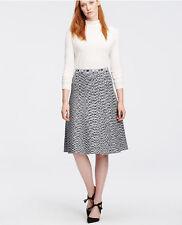 Ann Taylor Spacedye Flared Knit Skirt, Grey Space Dye, Rayon Lycra, Size M, NWT