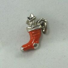 Vintage Sterling Silver Enamel BEAU Holiday Christmas Stocking Toy Soldier Charm