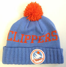 NBA Mitchell and Ness San Diego Clippers Vintage & Throwback Knit Hat Beanie Cap