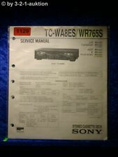 Sony Service Manual TC WA8ES / WR765S Cassette Deck (#1129)