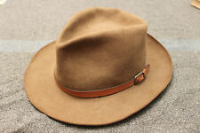 Vintage LL Bean Stetson Felt Fedora Hat w/ US Sporting Clays Association Pin