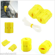 2 Pcs Yellow ABS Magnetic Fuel Power Saver For Car Off-Road SUV Reduce Emission