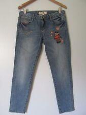Teenie Weenie Natural Bears Garden Blue Denim Embroidered Jeans  EUC SZ: 2