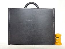 AUTH LOUIS VUITTON EPI BLACK HARD BRIEFCASE PRESIDENT TRUNK BAG