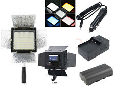 YN-160 + NP-550 battery +car charger LED camera video lamp light for Canon Nikon