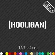 Hooligan Hoonigan car bumper jdm sticker decal vinyl - White