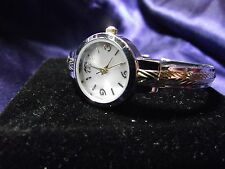 Woman's Quarts Cuff  Watch with Two Tone Band **Nice** B37-Box 01