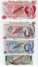 1978 Bank of Ireland 4 Banknote Specimen Set 1, 5, 10, 100 Pounds P-SC1 UNC