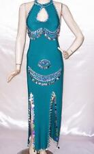 New Belly Dance Egyptian Baladi Saidi Galabeya Dancing Dress Costume S325