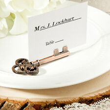 200 Vintage Key Design Place Card Holder Wedding Favors Shower Event Bulk Lot
