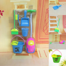 6Pcs Kids Baby Home Furniture Furnishing Cleaning Cleaner Toy For Barbie Doll