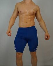 NEW MEN'S CYCLING SPANDEX SHORTS SIZE SMALL BLUE