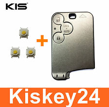 3T Key card Housing Key for Renault Laguna 2 Espace 4 + 3xTaster