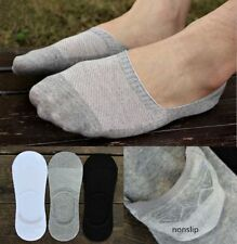 3 Pairs Men Loafer Boat Socks Invisible No Show Nonslip Low Cut Sport Casual