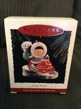 Hallmark Keepsake 1995 FROSTY FRIENDS ORNAMENT #16 Eskimo Snowmobile with Bear