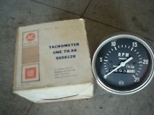 USED  AC TH88 5658228 Diesel Tachometer 0-2500 Hour Meter Mechanical Cable Boat