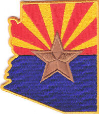 ARIZONA FLAG - Iron On Embroidered Applique Patch /Flag of Arizona