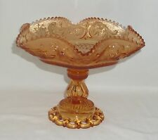 "Westmoreland PRINCESS FEATHER GOLDEN SUNSET*9 1/2"" FOOTED BOWL w/DORIC FOOT*PF58"