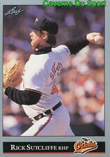 508   RICK SUTCLIFFE    BALTIMORE ORIOLES BASEBALL CARD LEAF 1992