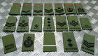 Genuine British Forces OD Green Rank Slide Various Cadet ACF RAF RN - Assorted