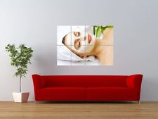 SALON SPA HEALTH BEAUTY FACIAL MASK GIANT ART PRINT PANEL POSTER NOR0332