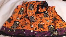 Adult Halloween Witch Pillowcase Dress  One Size Orange Print