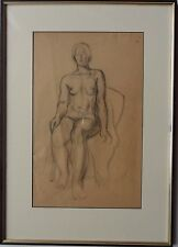 GUY SEYMOUR WARRE MALET 1900-1973 ORIGINAL SIGNED FEMALE NUDE DRAWING 1923